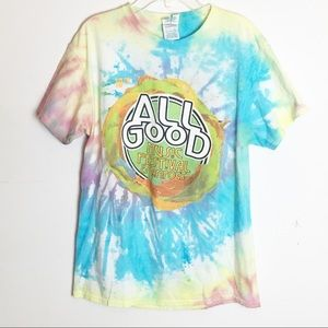 Tie Dyed All Good Music Festival & Campout Tee M
